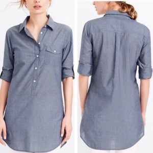 J. Crew factory Chambray pullover tunic top Large